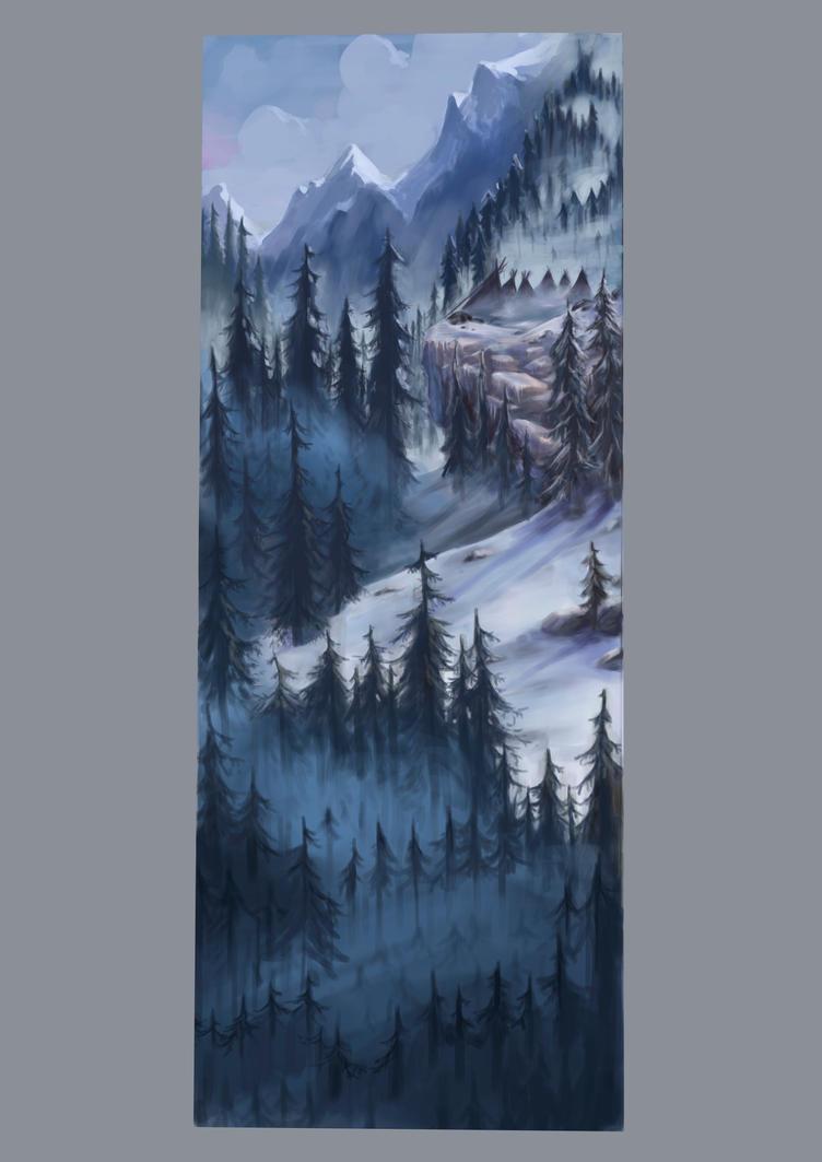 white winter by Popuche