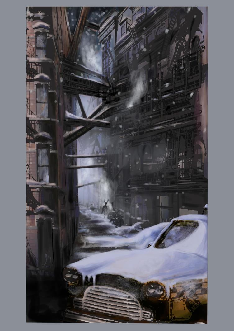 Dark town by Popuche