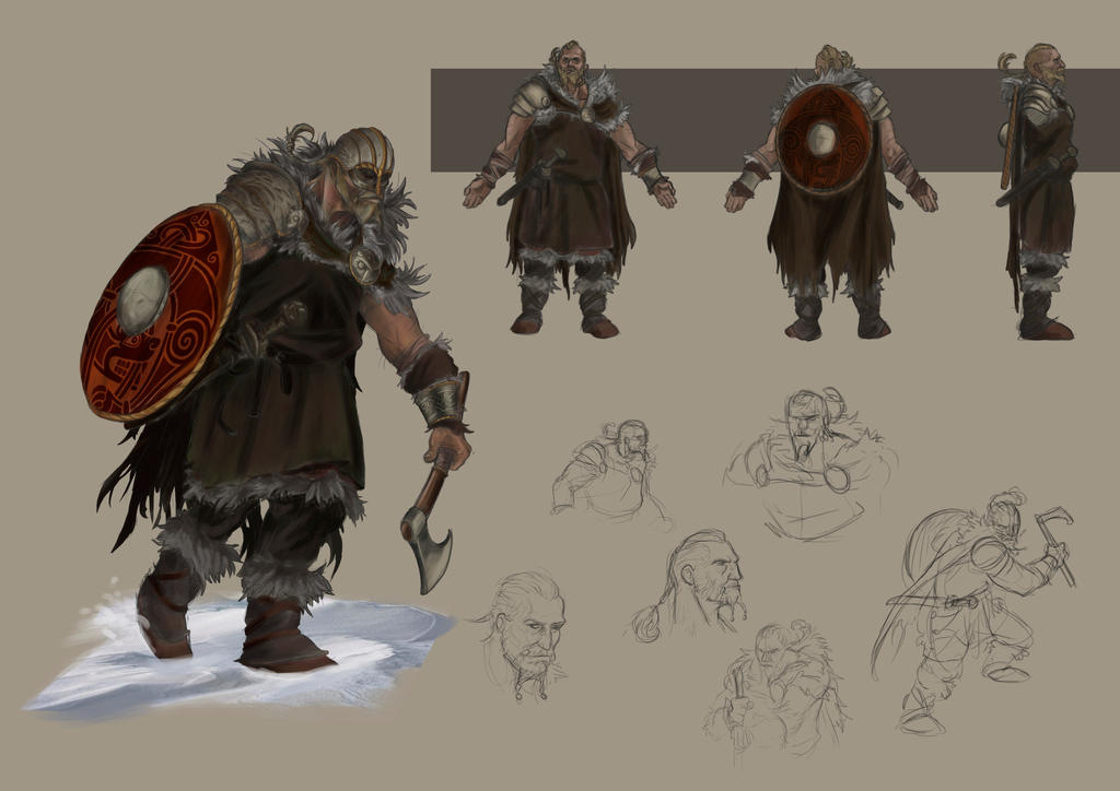 Viking heros by Popuche