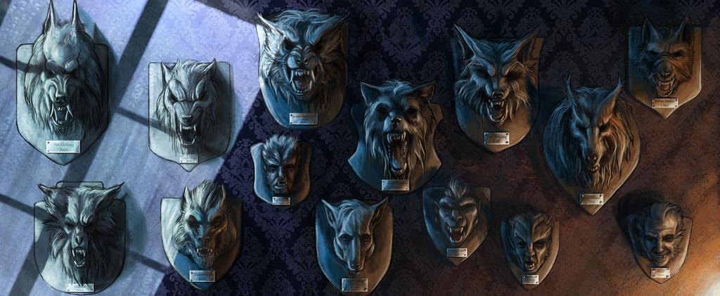 Werewolf heads by Popuche