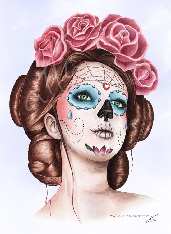 Dia de los Muertos by myAtta-art