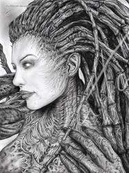 Queen of Blades by myAtta-art