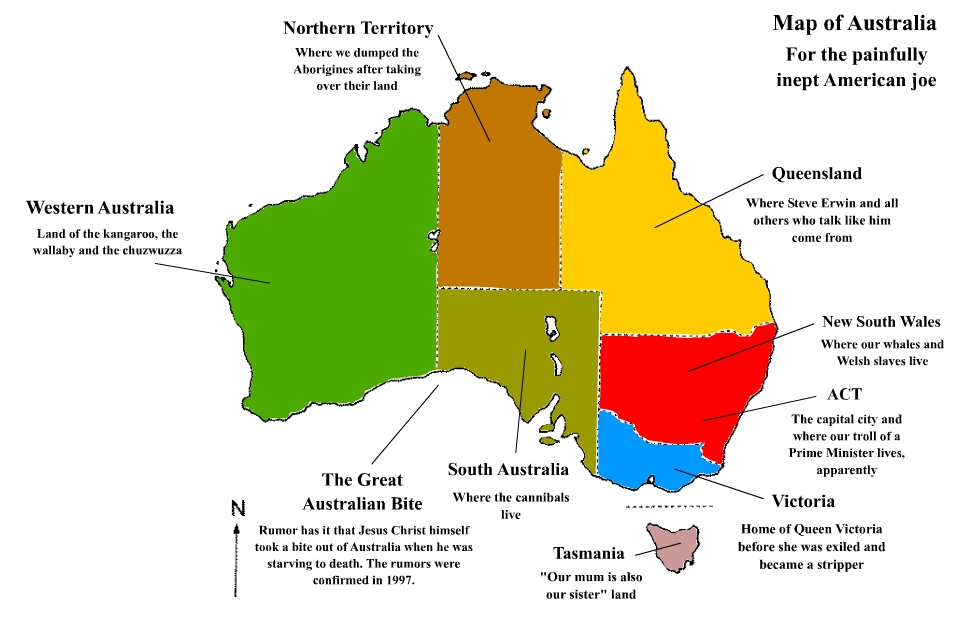 Map Of America Over Australia.Map Of Australia For Americans By Joesguy On Deviantart