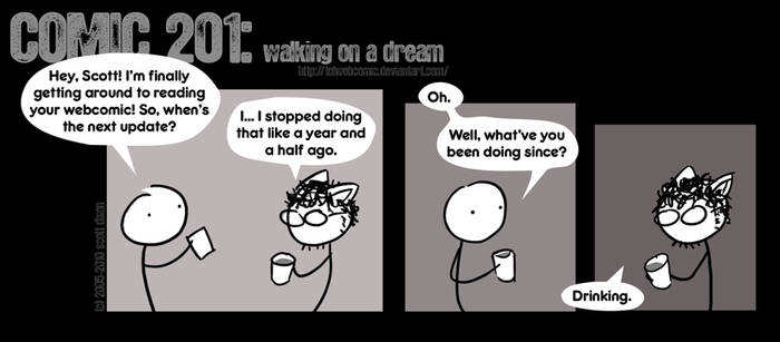 Comic 201: walking on a dream