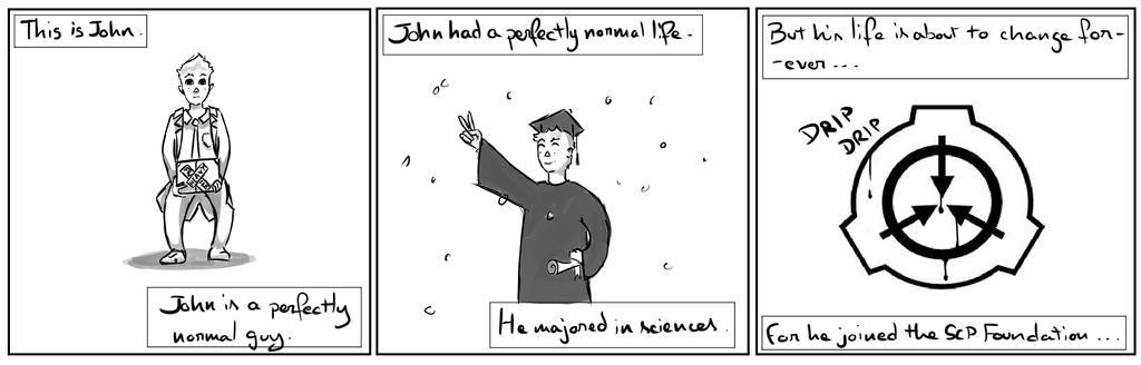 Site-Aleph Comic Strip #1 : John by Mohanga