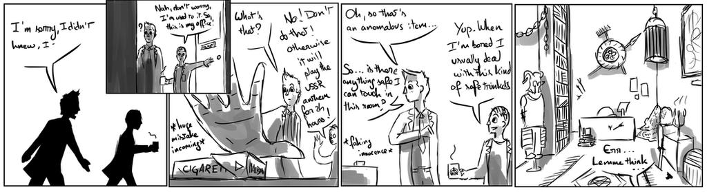 Site-Aleph Comic Strip #5 : About curiosity by Mohanga