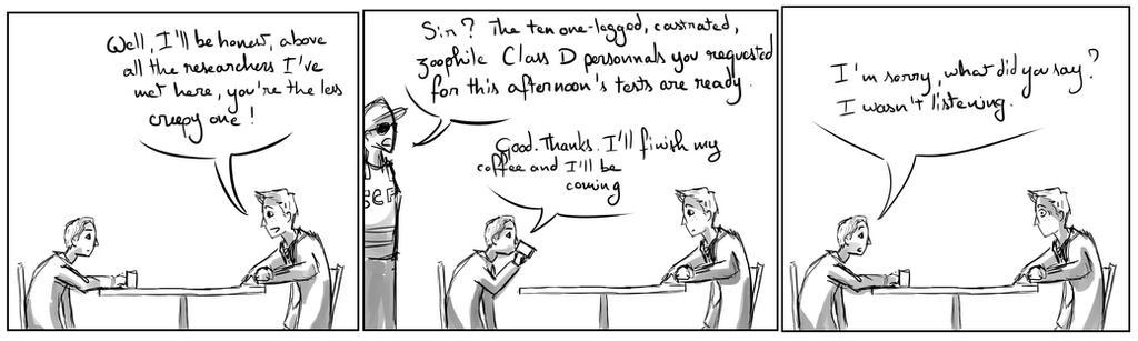 Site-Aleph Comic Strip #7 : Dr Creepy by Mohanga