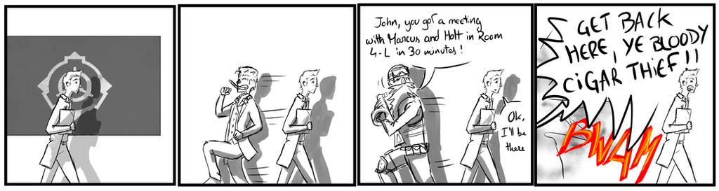 Site-Aleph Comic Strip #13 : Cigar Good by Mohanga