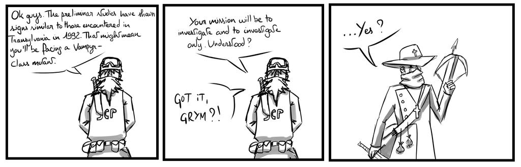 Site-Aleph Comic Strip #18 : Grymvania by Mohanga