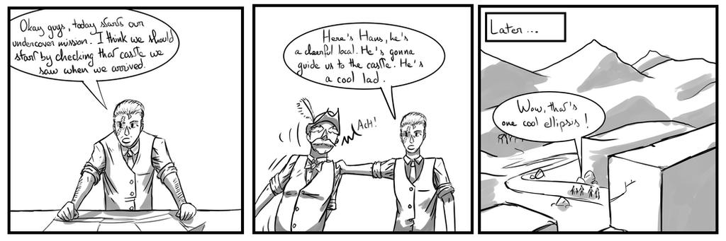 Site-Aleph Comic Strip #26 : On our way by Mohanga