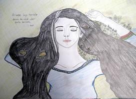 Arwen at Cerin Amroth by IdrielTheFair