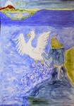 Osse making first swan for Teleri