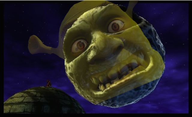 Majoras Mask Moon Giants shrek is the mo...