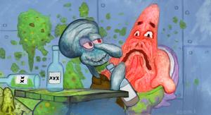 drunk squidward