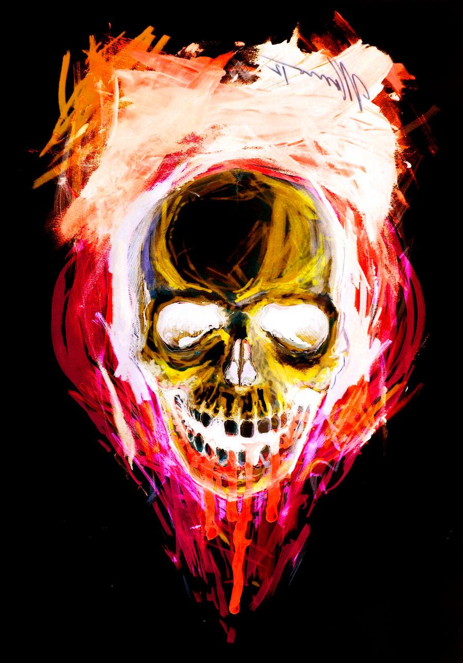 neon skull hate color by morenogro neon skull hate color by morenogro