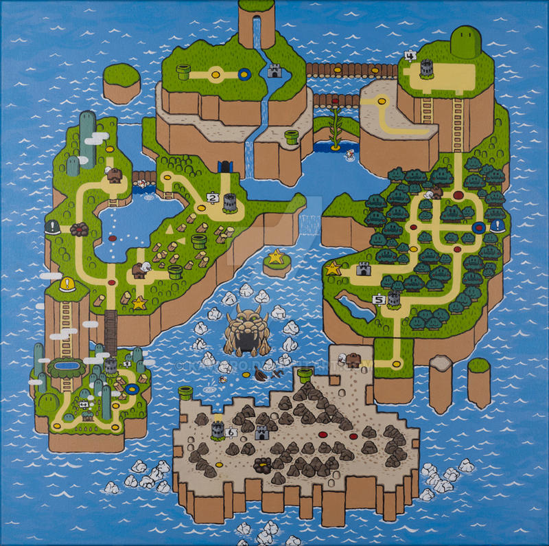 Super Mario World Map by kawuro on DeviantArt