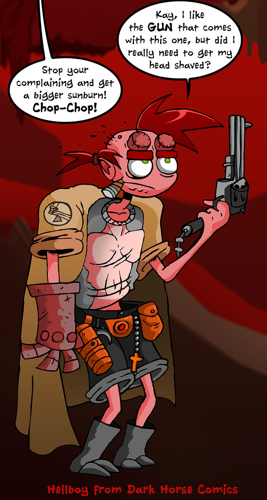 Hellboy Costume by skull-boy666