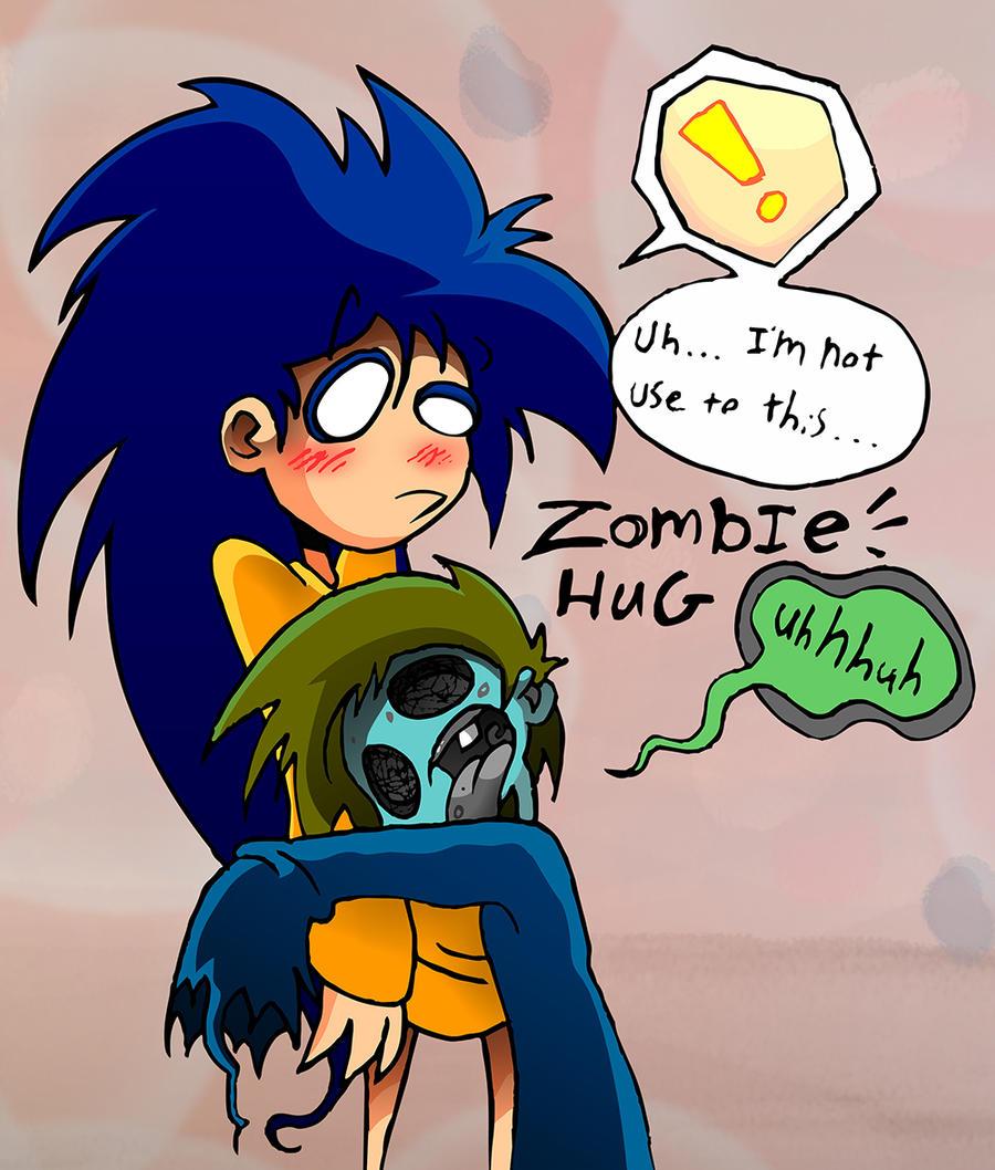 Zombie Hug by skull-boy666