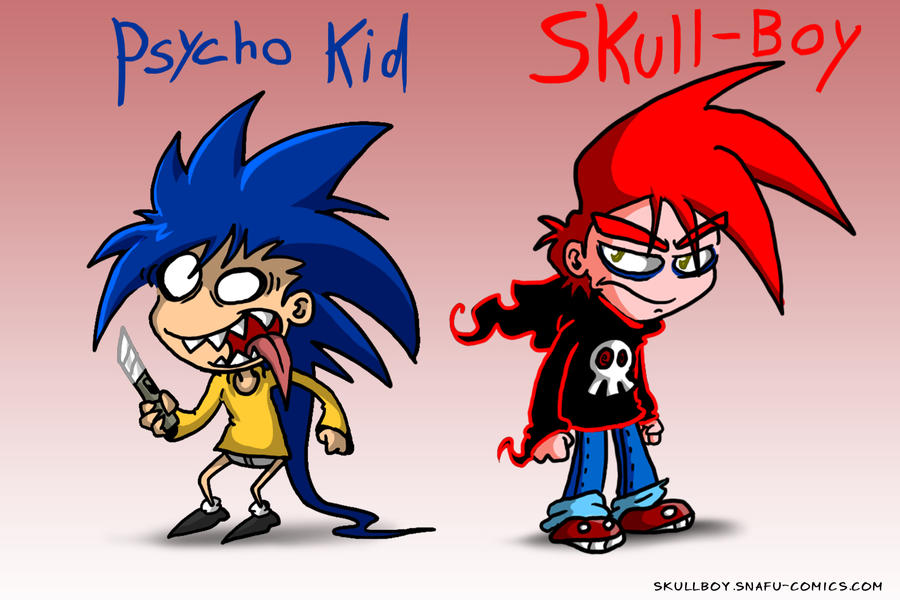 Skull-Boy, Psycho Kid - CARD by skull-boy666