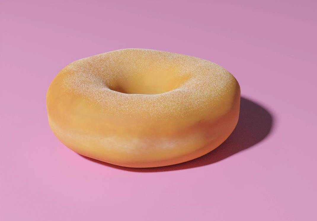 3D Donut created based on Blender tutorial