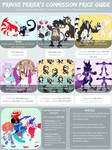 2017 Commission Price Guide (CLOSED) by PrinxePerier