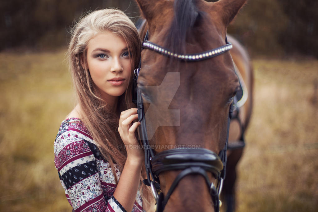 Beauty and horse #1 by fiorka