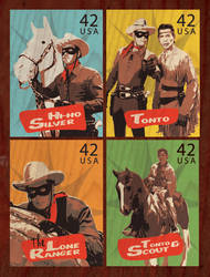 The Lone Ranger Stamp Seriers