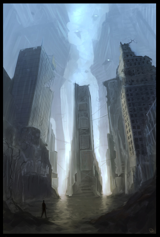 Times Square 3000 AD by bluemoment