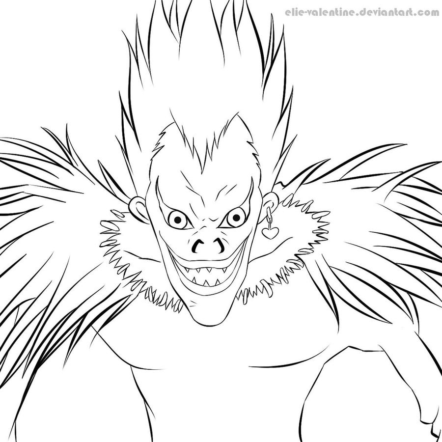 Line Art : Ryuk by ElieHamano on DeviantArt