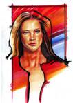 Portrait by marker