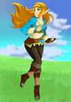 Zelda in action by LadyKaya333