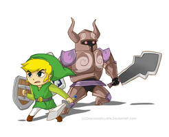 ST Link and Zelda by Pepperoonie