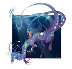 [closed set price] Aquatic Monster Design