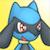 Riolu Shiny eyed