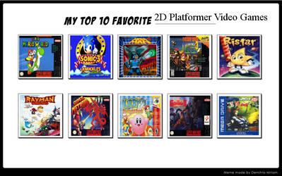 Top 10 Favorite 2D Platformer Video Games by SuperMarioEmblem