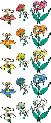 Flabebe, Floette, and Florges Sprites by conyjams on ...