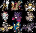 1st Gen Mega Evolutions Sprites