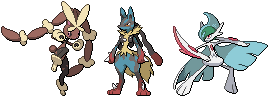 4th Gen Mega Fighting-Type Sprites by conyjams