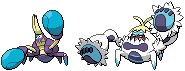 Crabrawler and Crabominable Sprites