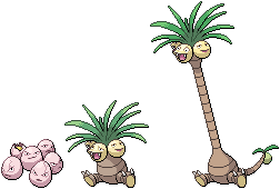 Exeggcute and Exeggutor Sprites by conyjams