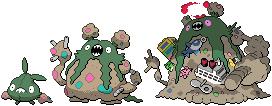 Trubbish and Garbodor Sprites