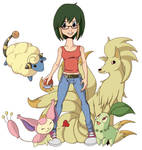 Allie and Her Pokemon