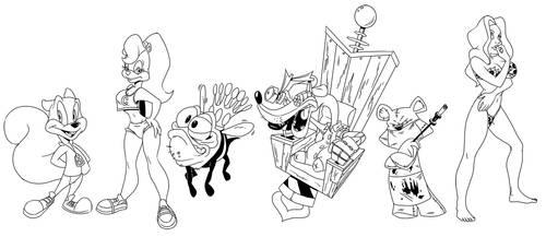 Conker drawings