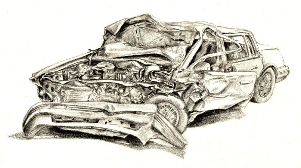 Crashed Car by Vicotnic on DeviantArt