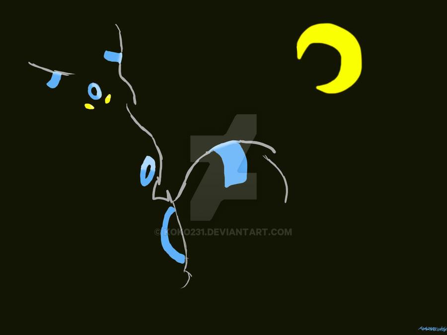Shiny Umbreon-Pokemon Practice by koko231