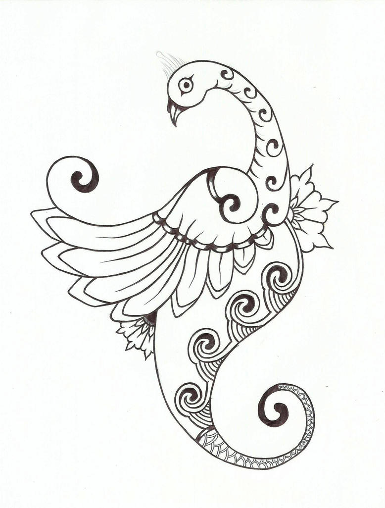 Peacock Embroidery Designs