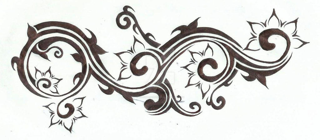 Spiral Tribal Flower Tattoo Design 2 By Chrismetalfreak On Deviantart