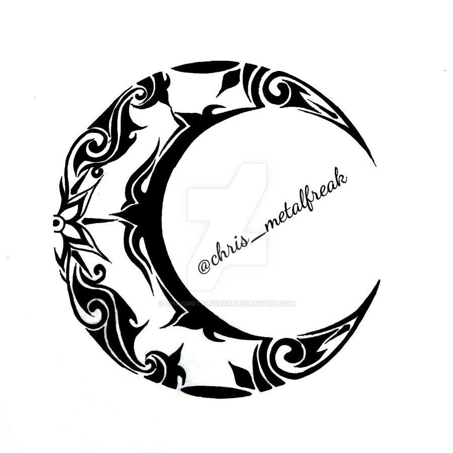 Tribal Moon Design 2 by chrismetalfreak on DeviantArt