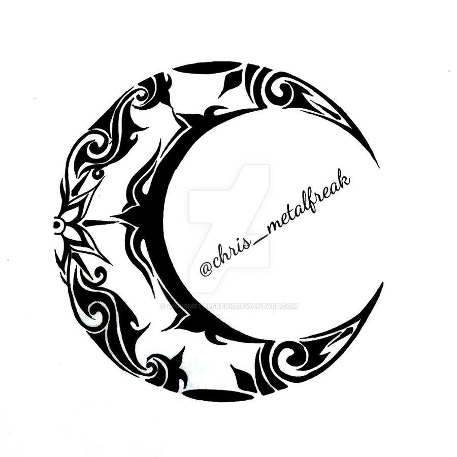 tribal moon design 2 by chrismetalfreak on deviantart
