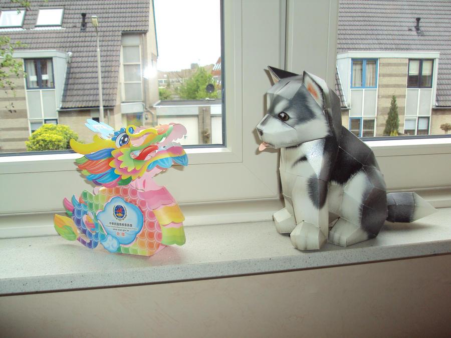 Dog Papercraft Template   Papercraft Dog By Manekineko21 On Deviantart
